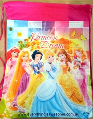 Picture of New Disney Princess Library Swimming Drawstring Bag