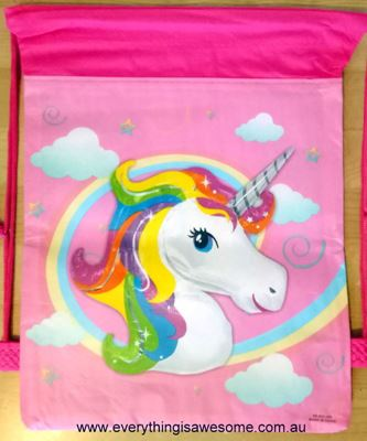 Picture of New Unicorn Library Swimming Drawstring Bag Design #1