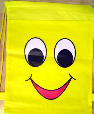 Picture of New Emoji Smile Library Swimming Drawstring Bag