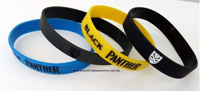 Picture of 8 pcs Marvel Black Panther Superhero Wristbands Bracelets