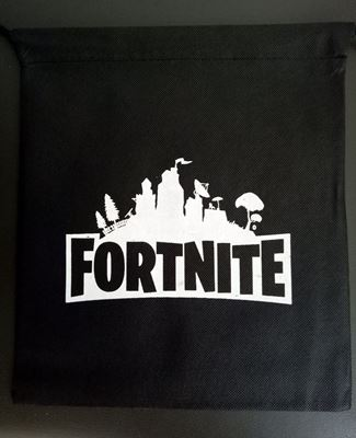 Picture of New Fortnite Drawstring Bag Black