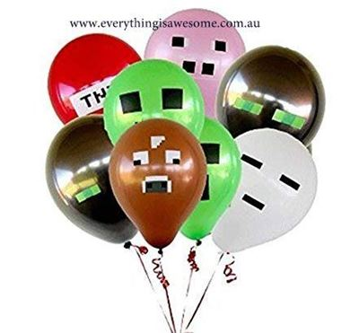 Picture of New 10 pcs Mixed Minecraft Balloons