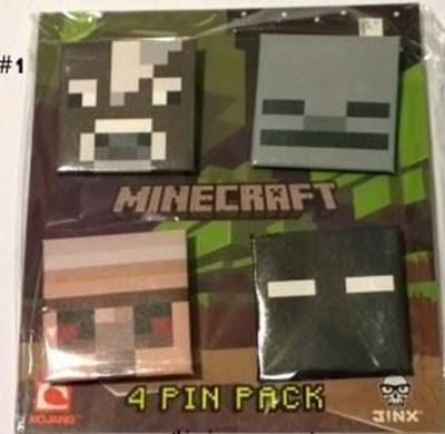 Picture of New 4 pcs  Minecraft Pins Badges #1