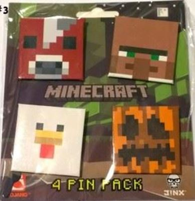 Picture of New 4 pcs  Minecraft Pins Badges #3