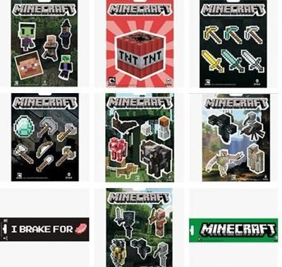 Picture of 9 pcs Minecraft Stickers