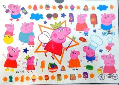 Picture of Peppa Pig Temporary Tattoo CG-130