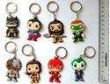 Picture of 8 pcs Superhero DC Justice League Keyring Keychain Set Party Favor