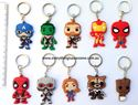 Picture of 10 pcs Superhero Marvel Avengers Keyring Keychain Set Party Favor