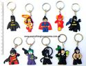 Picture of  10 pcs Superhero DC Justice League Keyring Keychain Set Party Favor