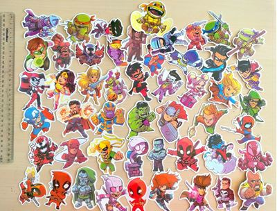 Picture of 50 pcs Superhero Avengers DC TMNT Mini Stickers